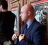 Paul Nuttall MEP <br /> UKIP Leader makes a Brexit speech #SixKeysTests at the Marriott Hotel, London, Great Britain <br /> 27th March 2017 <br /> <br /> Ahead of the Prime Minister triggering Article 50 next week, UKIP Leader Paul Nuttall sets out six key tests by which the country can judge Theresa May's Brexit negotiations in a keynote speech on this coming Monday morning.<br /> <br /> Nigel Farage's body guard <br /> <br />  <br /> Photograph by Elliott Franks <br /> Image licensed to Elliott Franks Photography Services