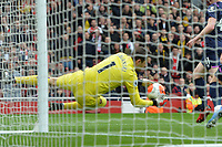 Lukasz Fabianski of West Ham United makes a save during Arsenal vs West Ham United, Premier League Football at the Emirates Stadium on 7th March 2020
