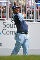 Jon Rahm (ESP) watches his tee shot on 9 during round 1 of the 2019 Tour Championship, East Lake Golf Course, Atlanta, Georgia, USA. 8/22/2019.<br /> Picture Ken Murray / Golffile.ie<br /> <br /> All photo usage must carry mandatory copyright credit (© Golffile | Ken Murray)