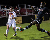 The Winthrop University Eagles lose 2-1 in a Big South contest against the Campbell University Camels.  Mason Lavallet (9), Keegan Terry (17)