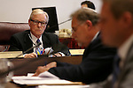 Nevada Sen. David Parks, D-Las Vegas, works in committee at the Legislative Building in Carson City, Nev., on Thursday, March 26, 2015. <br /> Photo by Cathleen Allison