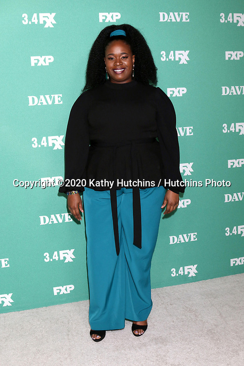 """LOS ANGELES - FEB 27:  Bria Henderson at the """"Dave"""" Premiere Screening from FXX at the DGA Theater on February 27, 2020 in Los Angeles, CA"""