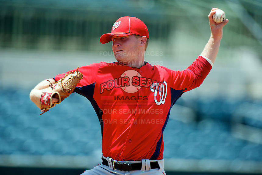 GCL Nationals Mike Mudron #34 during a Gulf Coast League game against the GCL Astros at Osceola County Stadium on July 20, 2012 in Kissimmee, Florida.  GCL Nationals defeated the GCL Astros 8-7.  (Mike Janes/Four Seam Images)