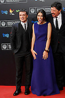 US actor Josh Hutcherson and Spanish actress Claudia Traisac attend red carpet before the Donostia Award  during the 62st San Sebastian Film Festival in San Sebastian, Spain. September 26, 2014. (ALTERPHOTOS/Caro Marin) /NortePHOTO.com /nortephoto.com