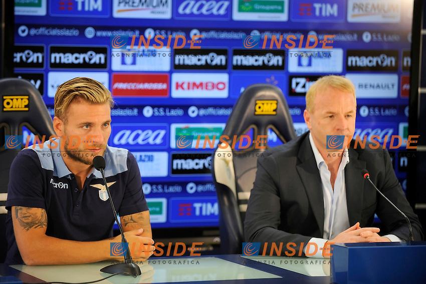 Ciro Immobile, Igli Tare<br /> Roma 01-08-2016 Conferenza stampa di presentazione di Ciro immobile.<br /> Press conference to present Ciro Immobile<br /> @ Marco Rosi / Fotonotizia / Insidefoto