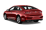 Car pictures of rear three quarter view of a 2018 Hyundai Sonata Sport 4 Door Sedan angular rear