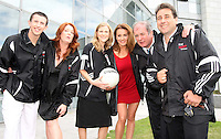 05/08/'10  Celibrity Bainisteoir's Mairead farrell, Peter Kelly, Gavin Duffy, Blathnaid Ni Chofaigh, Nuala Carey and Derek Burke pictured  at the launch of RTE's new season winter schedule at Montrose this afternoon...Picture Colin Keegan, Collins, Dublin.