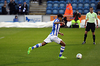 Mikael Mandron of Colchester United has his spot lick saved by Jed Steer of Aston Villa during Colchester United vs Aston Villa, Caraboa Cup Football at the Weston Homes Community Stadium on 9th August 2017