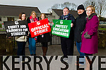 Teachers at Ciliate Gleann Li, Tralee, ahead of the National Secondary School Strike which takes place on Thursday. From Left: Norma Breen, Christine Leen, Myrna Egan, Mervin Clifford, Leonard O'Donnell and Maryann Lowney.