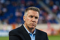 Sporting Kansas City manager Peter Vermes prior to playing the New York Red Bulls. Sporting Kansas City defeated the New York Red Bulls 1-0 during a Major League Soccer (MLS) match at Red Bull Arena in Harrison, NJ, on April 17, 2013.