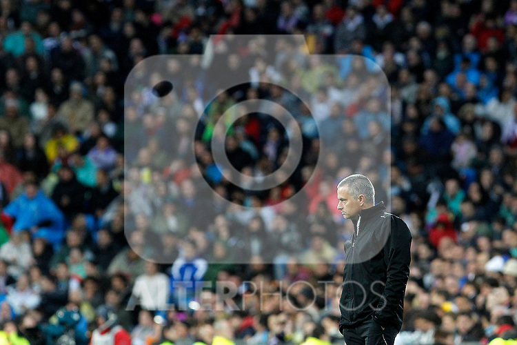 Real Madrid's coach Jose Mourinho during La Liga match.April 14,2012. (ALTERPHOTOS/Acero)