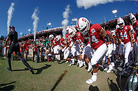 STANFORD, CA - SEPTEMBER 21: Head coach David Shaw and the Stanford Cardinal take the field during a game between University of Oregon and Stanford Football at Stanford Stadium on September 21, 2019 in Stanford, California.