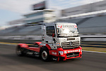 Hungarian driver Norbert Kiss belonging German team Tankpool 24 Racing during the super pole SP2 of the XXX Spain GP Camion of the FIA European Truck Racing Championship 2016 in Madrid. October 02, 2016. (ALTERPHOTOS/Rodrigo Jimenez)