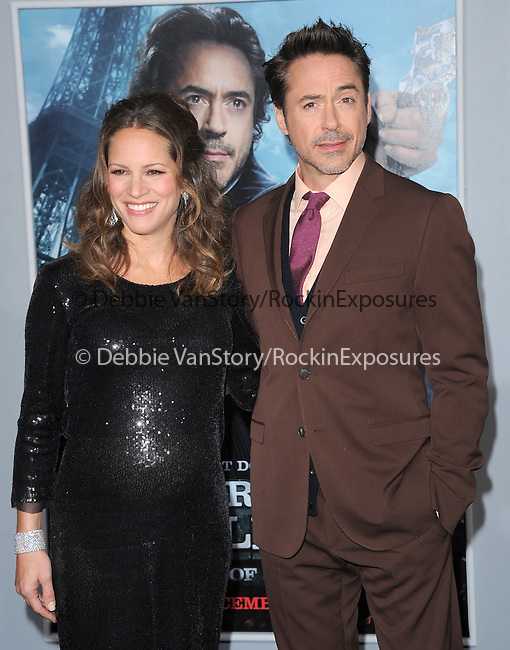 Robert Downey Jr. and Susan Downey at The Warner Bros. Pictures World Premiere of SHERLOCK HOLMES 2: A GAME OF SHADOWS held at The Village Theatre in Brentwood, California on December 06,2011                                                                               © 2011 Hollywood Press Agency