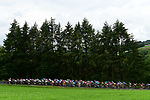 The peleton in action during Stage 2 of the 2018 Criterium du Dauphine 2018 running 181km from Montbrison to Belleville, France. 5th June 2018.<br /> Picture: ASO/Alex Broadway | Cyclefile<br /> <br /> <br /> All photos usage must carry mandatory copyright credit (&copy; Cyclefile | ASO/Alex Broadway)