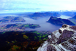 Lake Lucerne from the top of Mount Pilatus.