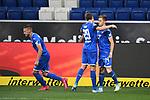 Torjubel nach dem 2-0: Robert Skov (Hoffenheim) und Torschuetze Christoph Baumgartner (Hoffenheim).<br /> <br /> Sport: Fussball: 1. Bundesliga: Saison 19/20: 28. Spieltag: TSG 1899 Hoffenheim - 1. FC Koeln, 27.05.2020<br /> <br /> Foto: Markus Gilliar/GES/POOL/PIX-Sportfotos.<br /> <br /> Nur für journalistische Zwecke! Only for editorial use!<br /> <br /> Gemäß den Vorgaben der DFL Deutsche Fußball Liga ist es untersagt, in dem Stadion und/oder vom Spiel angefertigte Fotoaufnahmen in Form von Sequenzbildern und/oder videoähnlichen Fotostrecken zu verwerten bzw. verwerten zu lassen. DFL regulations prohibit any use of photographs as image sequences and/or quasi-video.