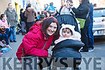 Fleadh By The Feale Street Busking Competition held last Friday night Eilish Mulcahy from Rockchapel with her daughter Leah.