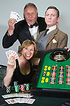 Pix: Shaun Flannery/shaunflanneryphotography.com...COPYRIGHT PICTURE>>SHAUN FLANNERY>01302-570814>>07778315553>>..20th June 2011..................Shaken not stirred! .Chris & Trish wood prepare for the forthcoming Casino Night at Sprotbrough Club. All proceeds from the event will go to this years Cusworth Music Festival (28th August) and will once again support The Aurora Centre.