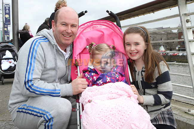 Jason, Lauren and Rebecca Skelly during the IWAI Power Boat Branch visit to Drogheda...(Photo credit should read Jenny Matthews/NEWSFILE)...