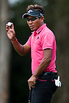 Thongchai Jaidee in action during Round 1 of the UBS Hong Kong Golf Open 2011 at Fanling Golf Course in Hong Kong on 1st December 2011. Photo © Andy Jones / The Power of Sport Images