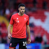 Lincoln City's Joan Luque during the pre-match warm-up<br /> <br /> Photographer Chris Vaughan/CameraSport<br /> <br /> The EFL Checkatrade Trophy Group H - Lincoln City v Mansfield Town - Tuesday September 4th 2018 - Sincil Bank - Lincoln<br />  <br /> World Copyright © 2018 CameraSport. All rights reserved. 43 Linden Ave. Countesthorpe. Leicester. England. LE8 5PG - Tel: +44 (0) 116 277 4147 - admin@camerasport.com - www.camerasport.com