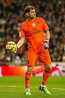 Real Madrid´s Iker Casillas during 2014-15 La Liga match between Real Madrid and Deportivo de la Coruna at Santiago Bernabeu stadium in Madrid, Spain. February 14, 2015. (ALTERPHOTOS/Luis Fernandez) /NORTEphoto.com