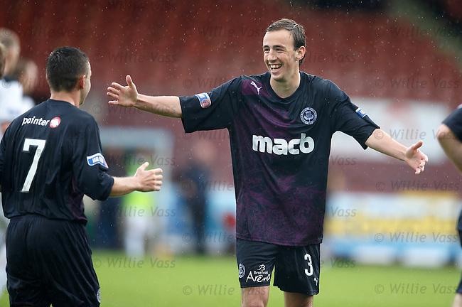 Stuart Brannigan celebrates his goal for Partick Thistle