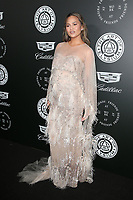 SANTA MONICA, CA - JANUARY 6: Chrissy Teigen at Art of Elysium's 11th Annual HEAVEN Celebration at Barker Hangar in Santa Monica, California on January 6, 2018. <br /> CAP/MPI/FS<br /> &copy;FS/MPI/Capital Pictures