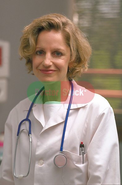 portrait of smiling female doctor or nurse