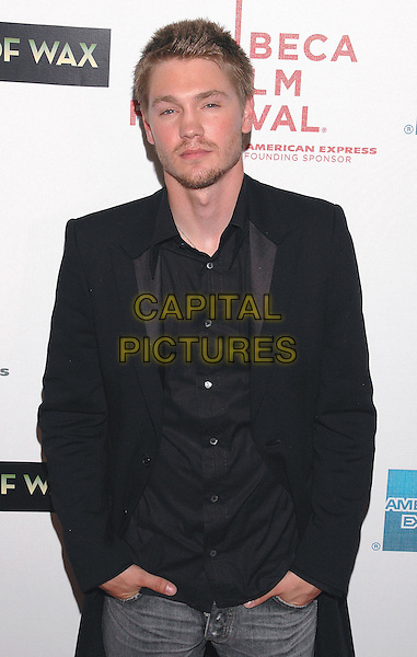 """CHAD MICHAEL MURRAY.Premiere of his new film, """"House of Wax"""", at the Stuyvesant High School,  part of the Tribeca Film Festival in downtown Manhattan. .April 30th, 2005.Photo Credit: Patti Ouderkirk/AdMedia.half length hands in pockets black suit jacket facial hair black shirt.www.capitalpictures.com.sales@capitalpictures.com.© Capital Pictures."""