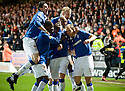 :: RANGERS' STEVEN WHITTAKER IS CONGRATULATED AFTER HE  SCORES THE SECOND FROM THE SPOT :: .19/04/2011   Copyright  Pic : James Stewart.sct_jsp013_dundee_utd_v_rangers .James Stewart Photography 19 Carronlea Drive, Falkirk. FK2 8DN      Vat Reg No. 607 6932 25.Telephone      : +44 (0)1324 570291 .Mobile              : +44 (0)7721 416997.E-mail  :  jim@jspa.co.uk.If you require further information then contact Jim Stewart on any of the numbers above.........