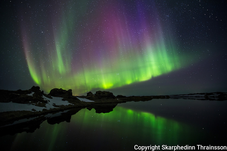 Aurora borealis at Myvatn