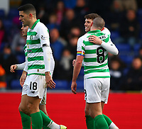 1st December 2019; Global Energy Stadium, Dingwall, Highland, Scotland; Scottish Premiership Football, Ross County versus Celtic; Ryan Christie of Celtic celebrates with captain Scott Brown of Celtic after making it 2-1 to Celtic in the 38th minute - Editorial Use