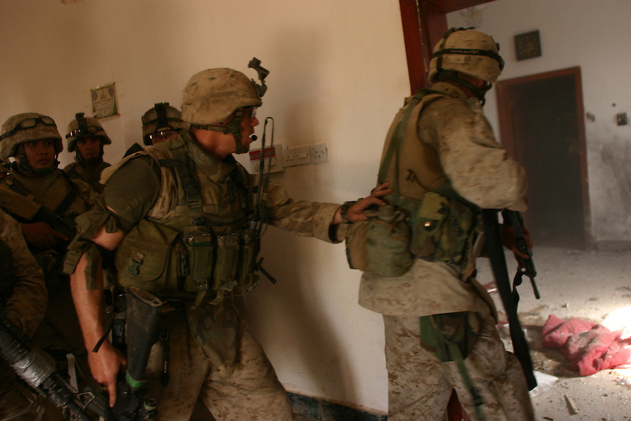 Photos of Cpl. Mitchell and PFC Nicoll in Nov. 2004 assault on Fallujah.