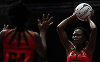 23.02.2018 Malawi's Thandie Galleta in action during the Malawi v Jamaica Taini Jamison Trophy netball match at the North Shore Events Centre in Auckland. Mandatory Photo Credit ©Michael Bradley.