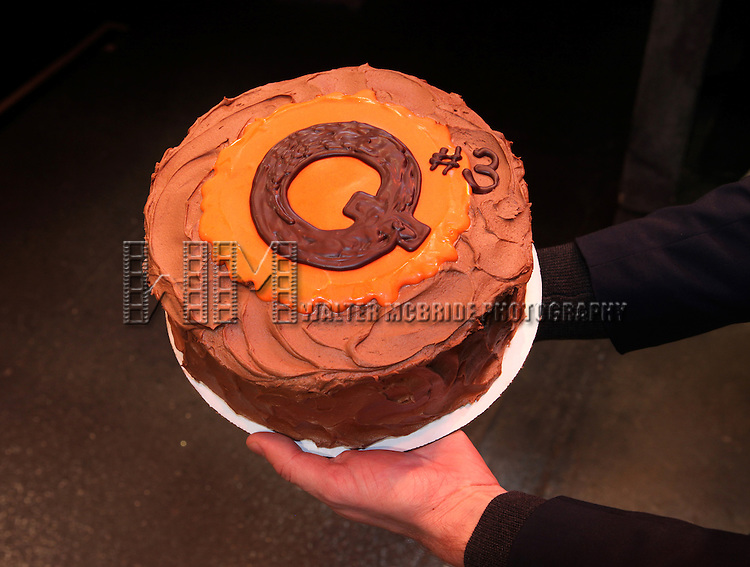 'The Cake' designed by Donna Bell's Bake Shop for 'Avenue Q' celebrating their 3rd Anniversary Off-Broadway at The World Stages on 10/22/2012 in New York City.