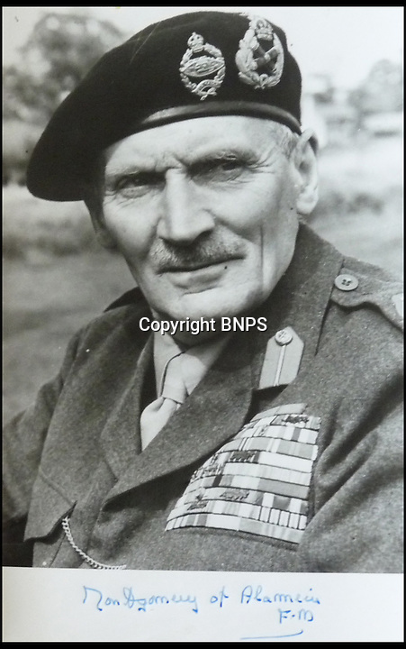 BNPS.co.uk (01202 558833)<br /> Pic: NateDSanders/BNPS<br /> <br /> ***Please use full byline***<br /> <br /> Field Marshal Montgomery. <br /> <br /> A fascinating plan drawn up by Field Marshal Bernard Montgomery to rehabilitate the German people from Nazism has emerged.<br /> <br /> The British army supremo highlighted the importance of a free press and the role of the church in helping to rid the defeated nation of Adolf Hitler's warped fascist idyll.<br /> <br /> Montgomery came up with a strategy to win the hearts of minds of the German people after the Allies took control of Germany following the end of World War Two.<br /> <br /> He believed British soldiers should connect with the locals by having conversations with adults in the street and playing games with children in public.