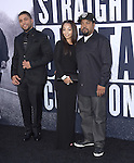 O'Shea Jackson Jr. and Ice Cube and wife attends The Universal Pictures' STRAIGHT OUTTA COMPTON World Premiere held at The Microsoft Theatre  in Los Angeles, California on August 10,2015                                                                               © 2015 Hollywood Press Agency
