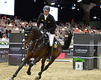 Marco Kutscher (Germany), riding Van Gogh at the Gucci Gold Cup International Jumping competition at the 2015 Longines Masters Los Angeles at the L.A. Convention Centre.<br /> October 3, 2015  Los Angeles, CA<br /> Picture: Paul Smith / Featureflash