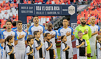 Harrison, N.J. - Friday September 01, 2017:   USMNT starting eleven during a 2017 FIFA World Cup Qualifying (WCQ) round match between the men's national teams of the United States (USA) and Costa Rica (CRC) at Red Bull Arena.