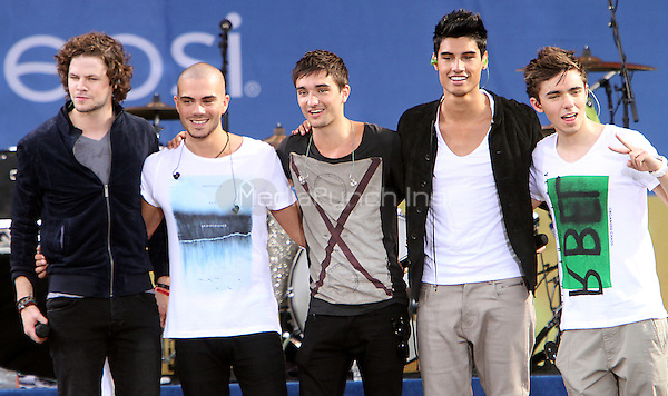August 24, 2012 Jay McGuiness, Max George, Tom Parker, Siva Kaneswaran, Nathan Sykes, of The Wanted perform on the Good Morning America Concert Series at Rumsey Playfield in Central Park. New York City. © RW/MediaPunch Inc.