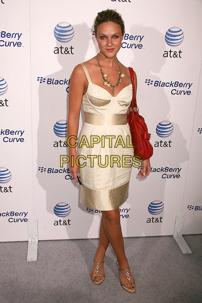 BEAU GARETT.AT&T's BlackBerry Curve Launch Party at the Beverly Wilshire Hotel, Beverly Hills, California, USA,.31 May 2007..full length garrett white gold dress cream.CAP/ADM/BP.©Byron Purvis/AdMedia/Capital Pictures.
