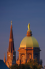 Sept. 27, 2015; Dome and Basilica steeple at sunrise. (Photo by Matt Cashore/University of Notre Dame)