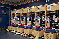 Harrison, N.J. - Friday September 01, 2017: U.S. Men's National team locker room prior to their match versus Costa Rica during a 2017 FIFA World Cup Qualifying (WCQ) round match between the men's national teams of the United States (USA) and Costa Rica (CRC) at Red Bull Arena.
