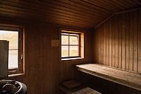 Sauna at STF Aigert hut, Kungsleden trail, Lapland, Sweden