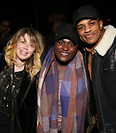 "Natasha Lyonne, Danielle Brooks and Jeremy Pope backstage after a performance of ""Ain't Too Proud"" at the Imperial Theatre on April 11, 2019 in New York City."