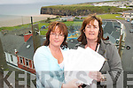 ONE WAY: Kerry Harty Beauseigneur and Sarah Keane with some of the petitions signed in Ballybunion demanding a One Way Traffic System in the town..
