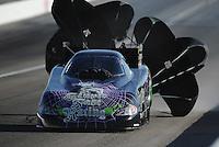 Mar. 31, 2012; Las Vegas, NV, USA: NHRA funny car driver Bob Bode during qualifying for the Summitracing.com Nationals at The Strip in Las Vegas. Mandatory Credit: Mark J. Rebilas-