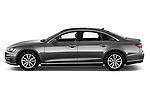 Car driver side profile view of a 2018 Audi A8 Base 4 Door Sedan